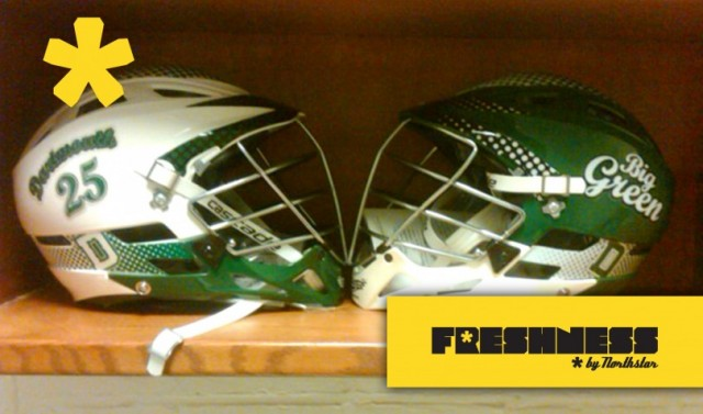 Dartmouth Lacrosse Helmets 2011