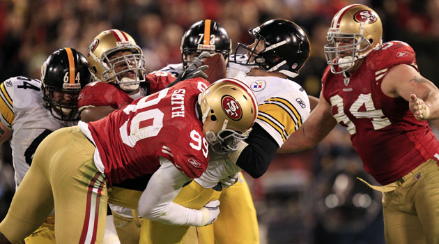 Aldon Smith takes down Ben Roethlisberger.