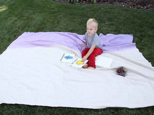 DIY Craft: Color Block Picnic Blanket