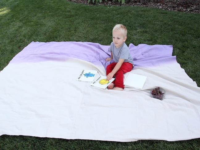 Diy craft colour block picnic blanket for Au maison picnic blanket