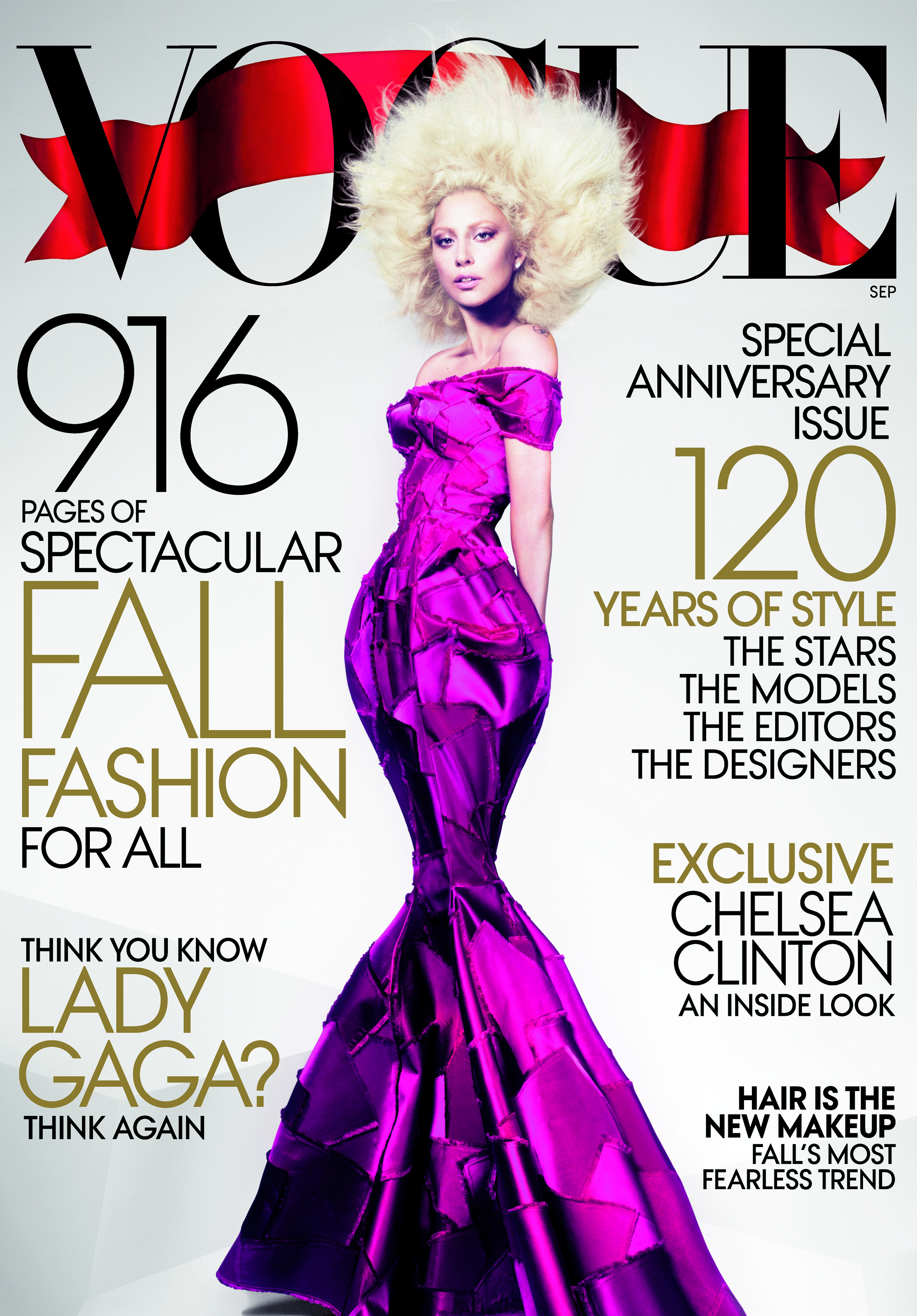 septembercover Gaga, Miley Cyrus, Katy Perry and Gwen Grace the September Magazine Covers
