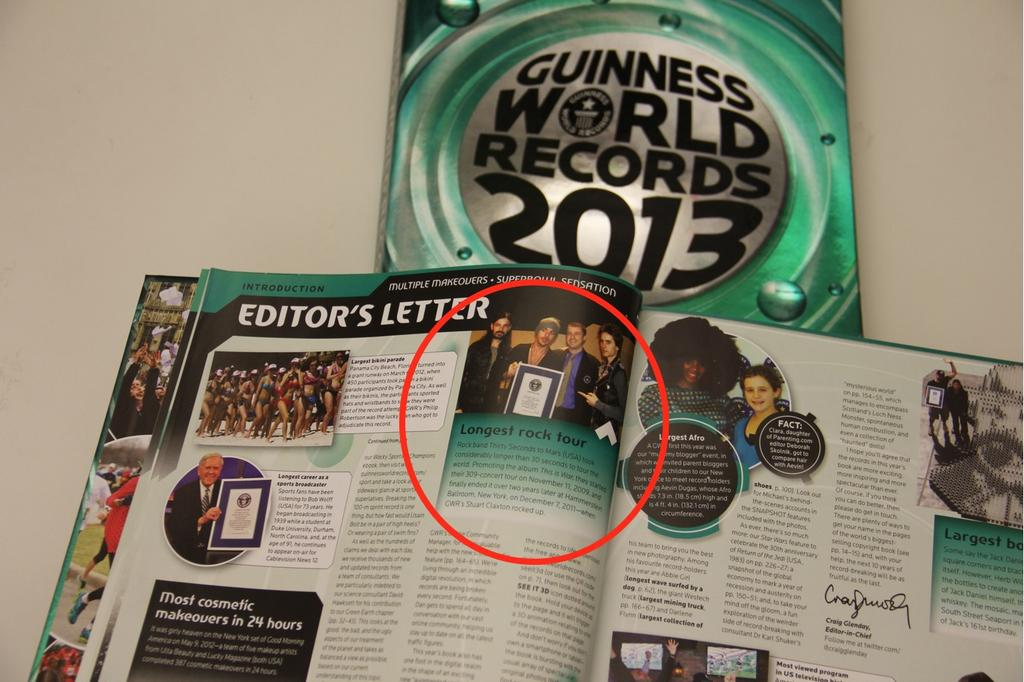 30sec Why Is Thirty Seconds To Mars In The Guinness Book Of World Records?