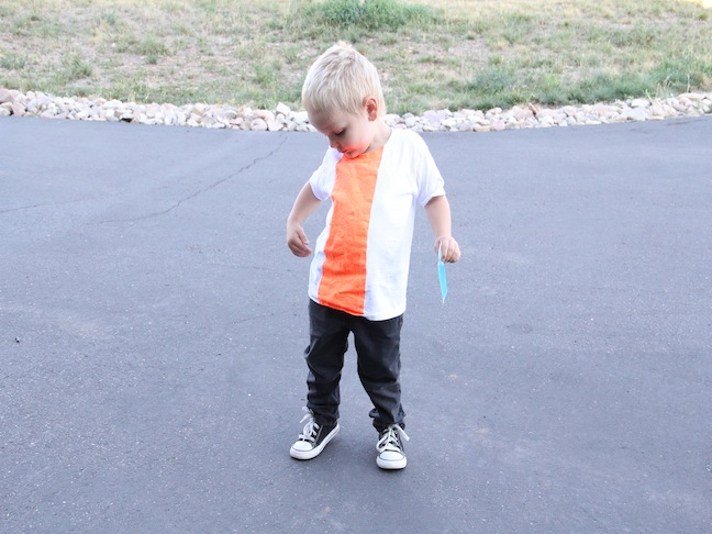 DIY Crafts for Kids: Color Block T-Shirt