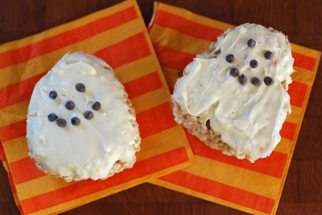 Marshmallow Rice Bar Ghost Recipe