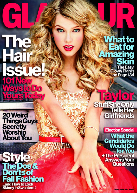 glamour novembercover Taylor Swift Teases Red, Covers Two Mags