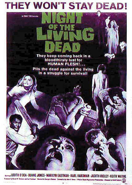 night of the living dead  5 Great Zombie Flicks For Halloween