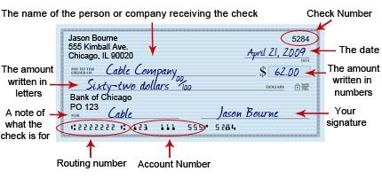 how do i write a check