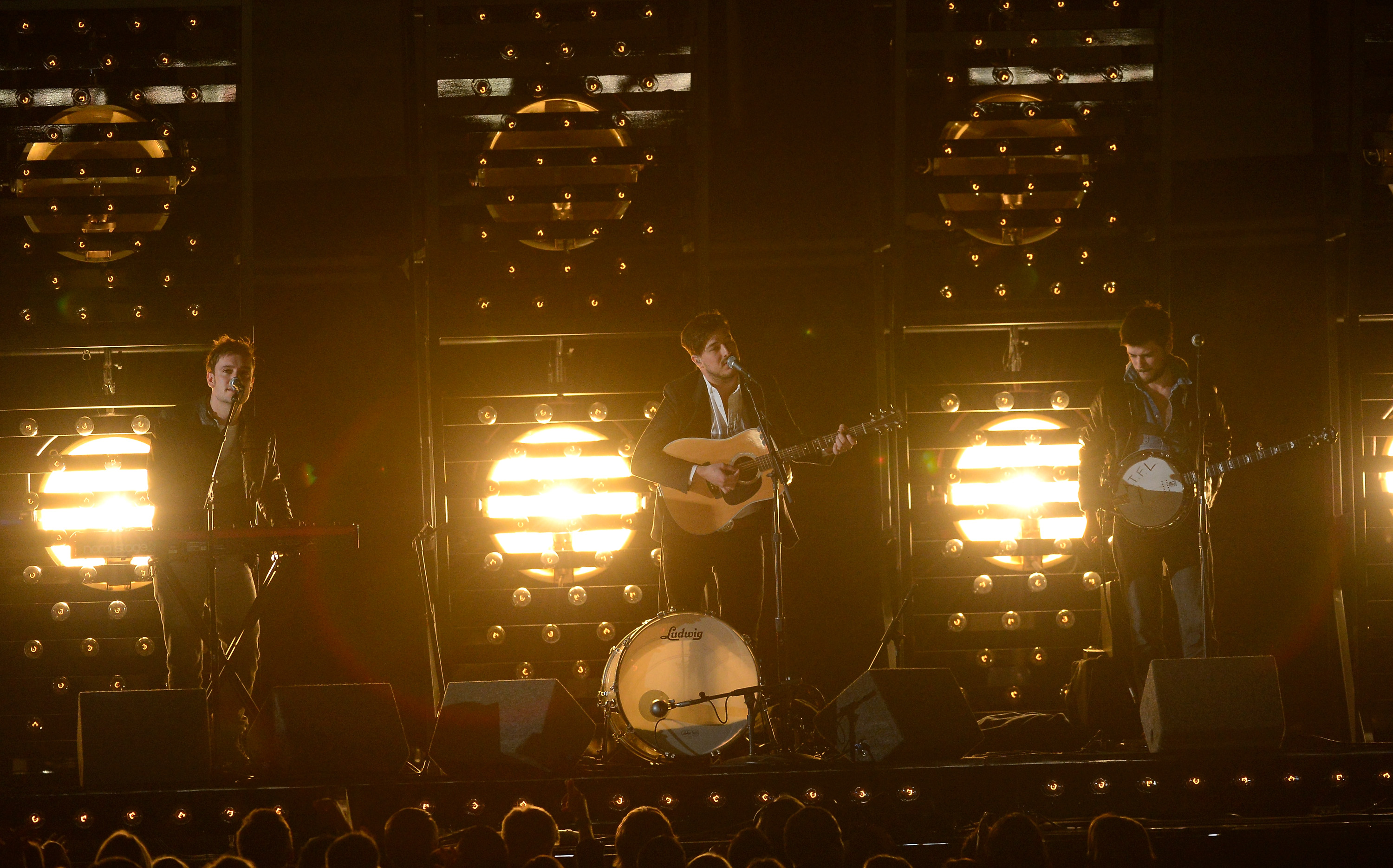 161410657 Mumford & Sons Stomp Through GRAMMY Performance