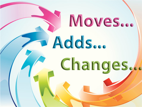 moves adds and changes