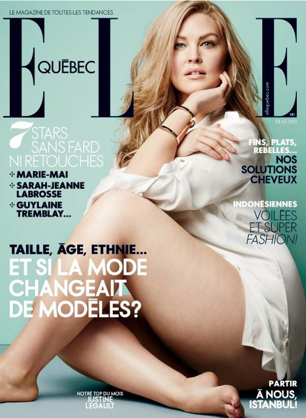 Plus-Size Model Justine Legault Owns the Cover of Elle Quebec