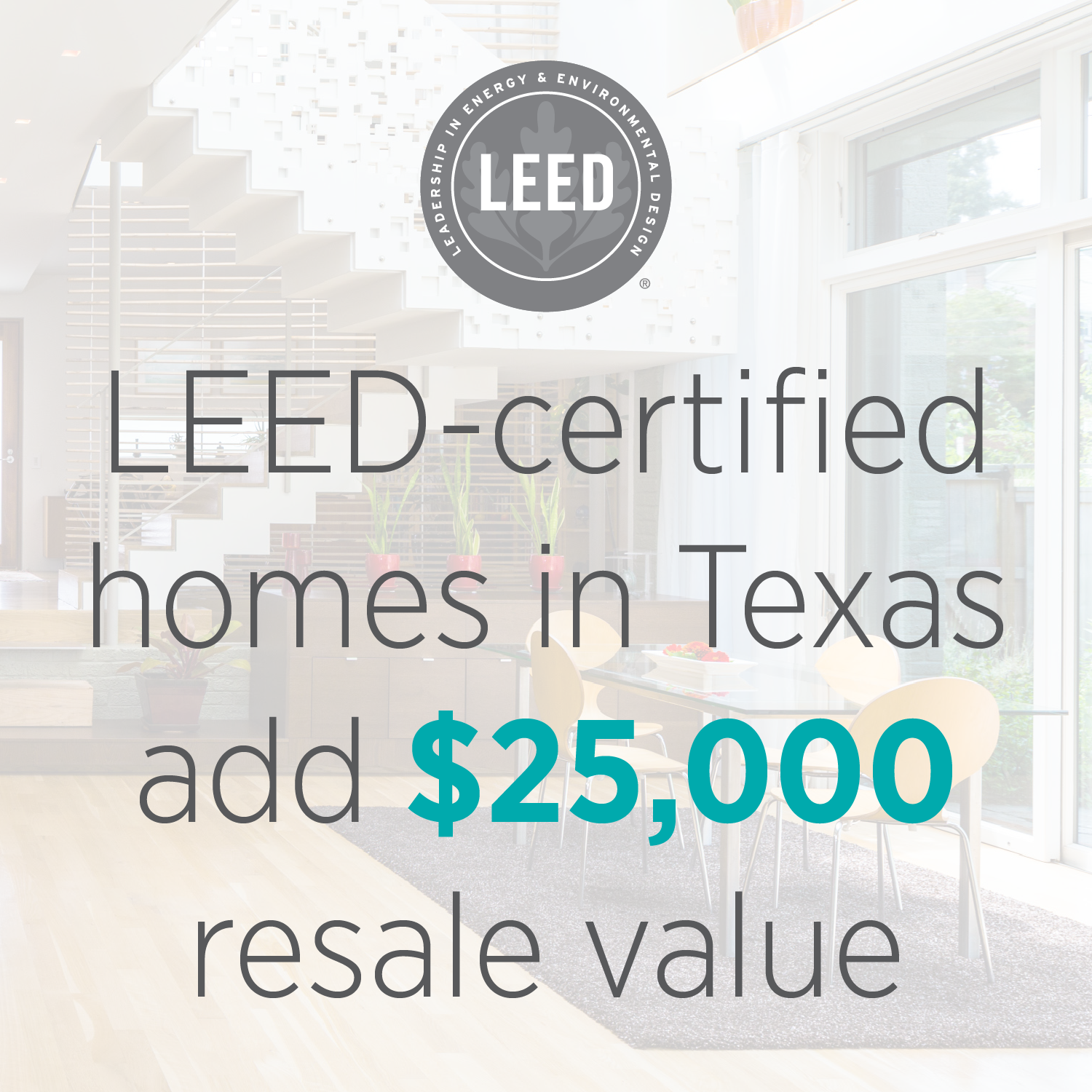 LEED homes in Texas offer $25,000 more in resale value