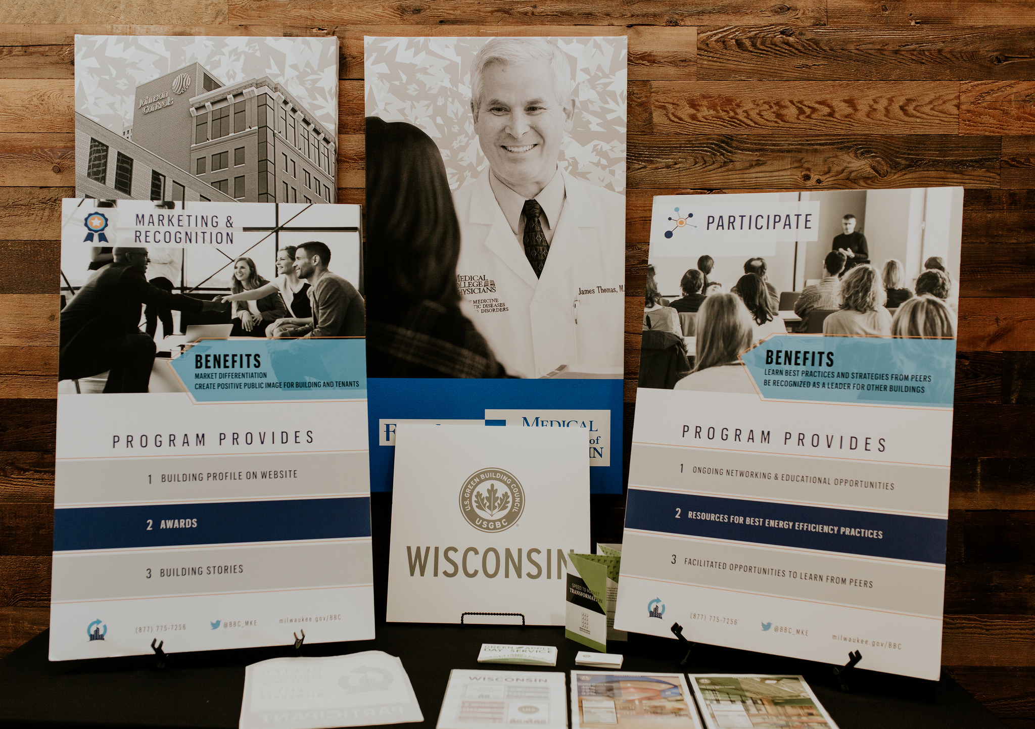 USGBC Wisconsin Better Buildings event display