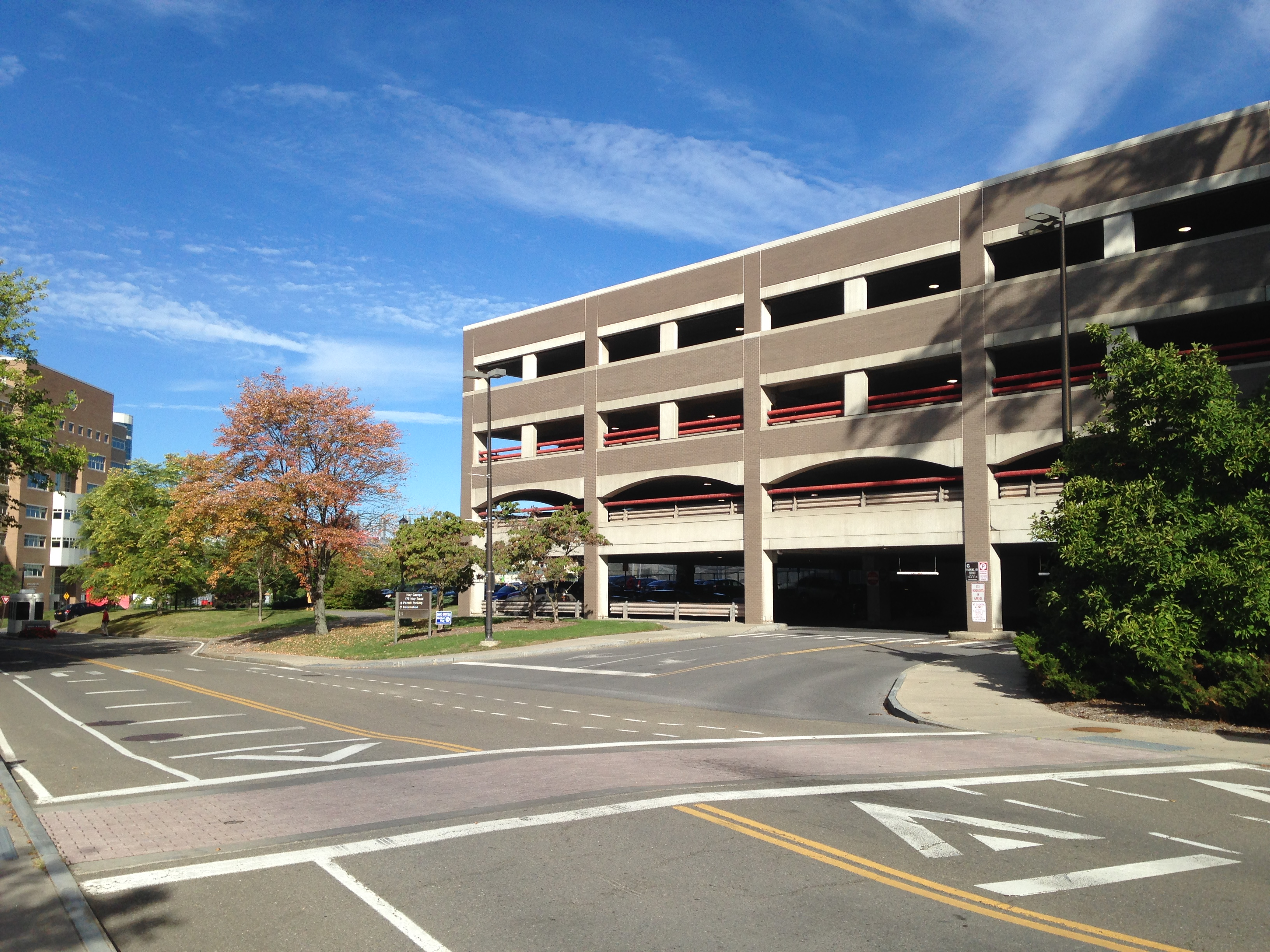 Hoy Field garage at Cornell University used Parksmart