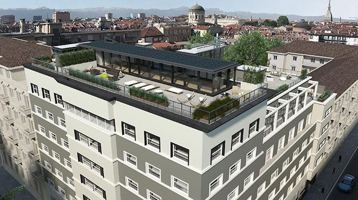 Palazzo Novecento is seeking LEED certification in Torino, Italy