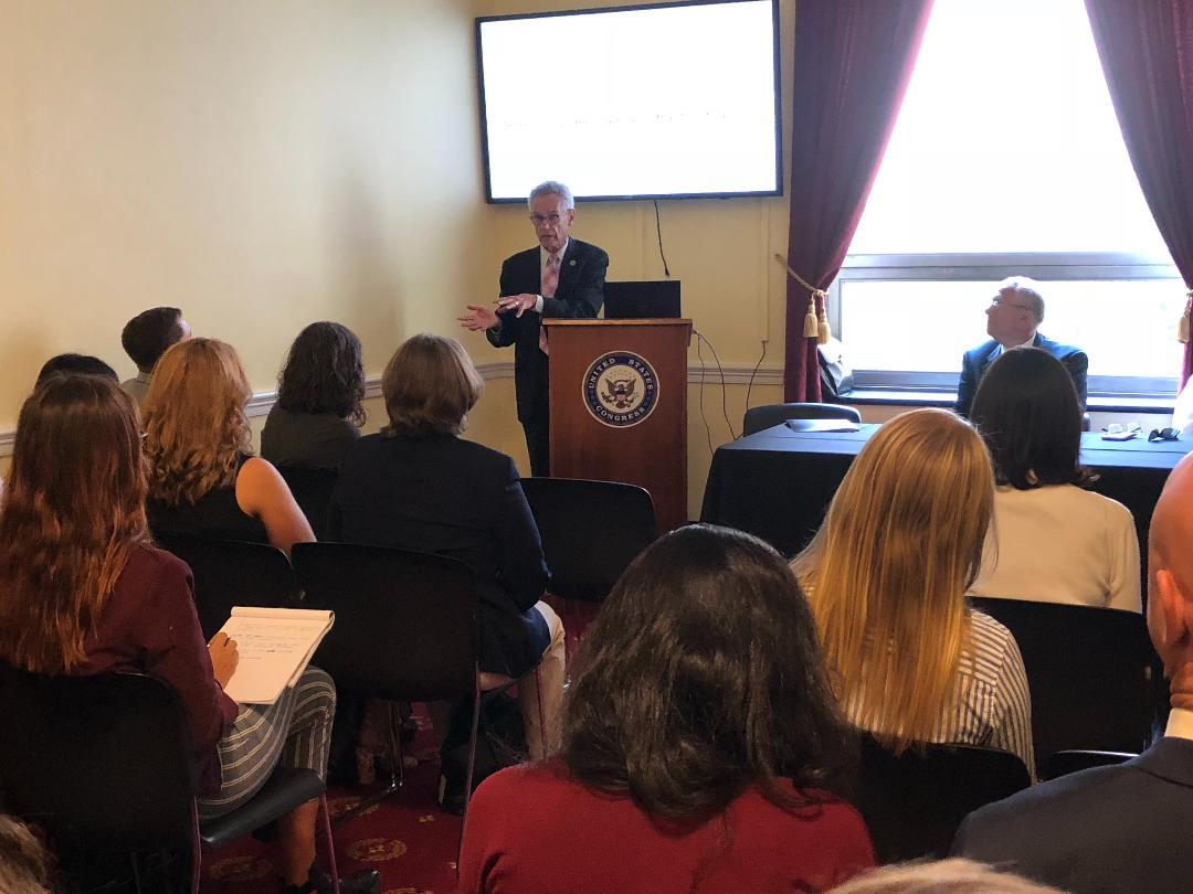 Rep. Lowenthal at the Congressional Green Schools Caucus resiliency briefing