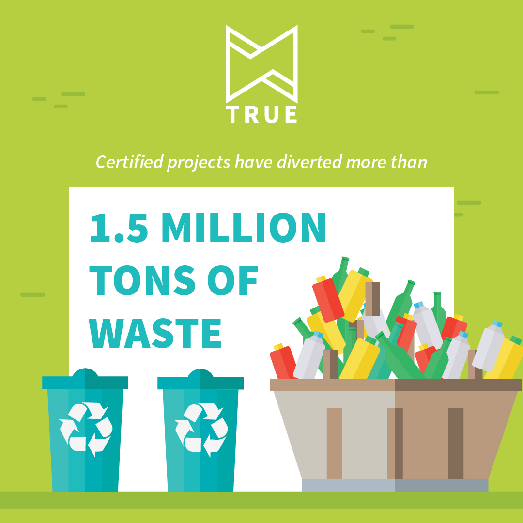 TRUE Zero Waste has diverted 1.5 million tons of waste