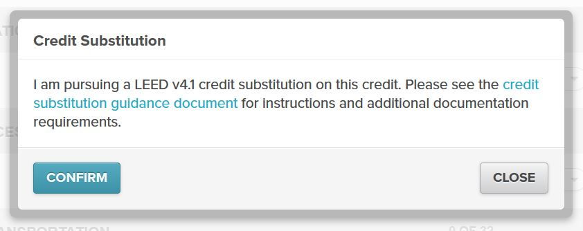 LEED credit substitution