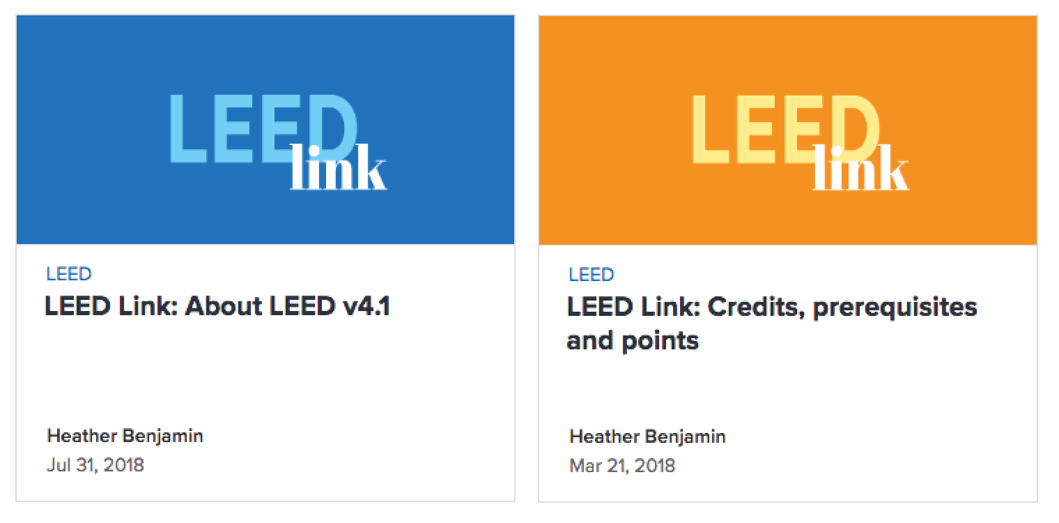 LEED Link campaign case study