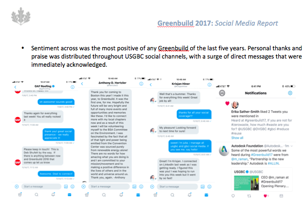 Greenbuild social media reporting