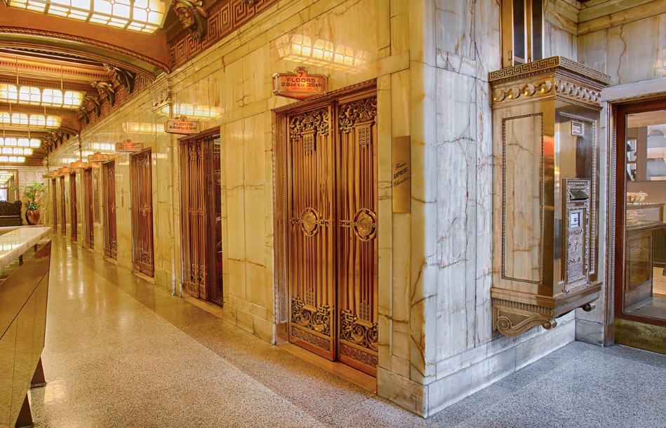 Historic interior of the LEED Platinum Smith Tower