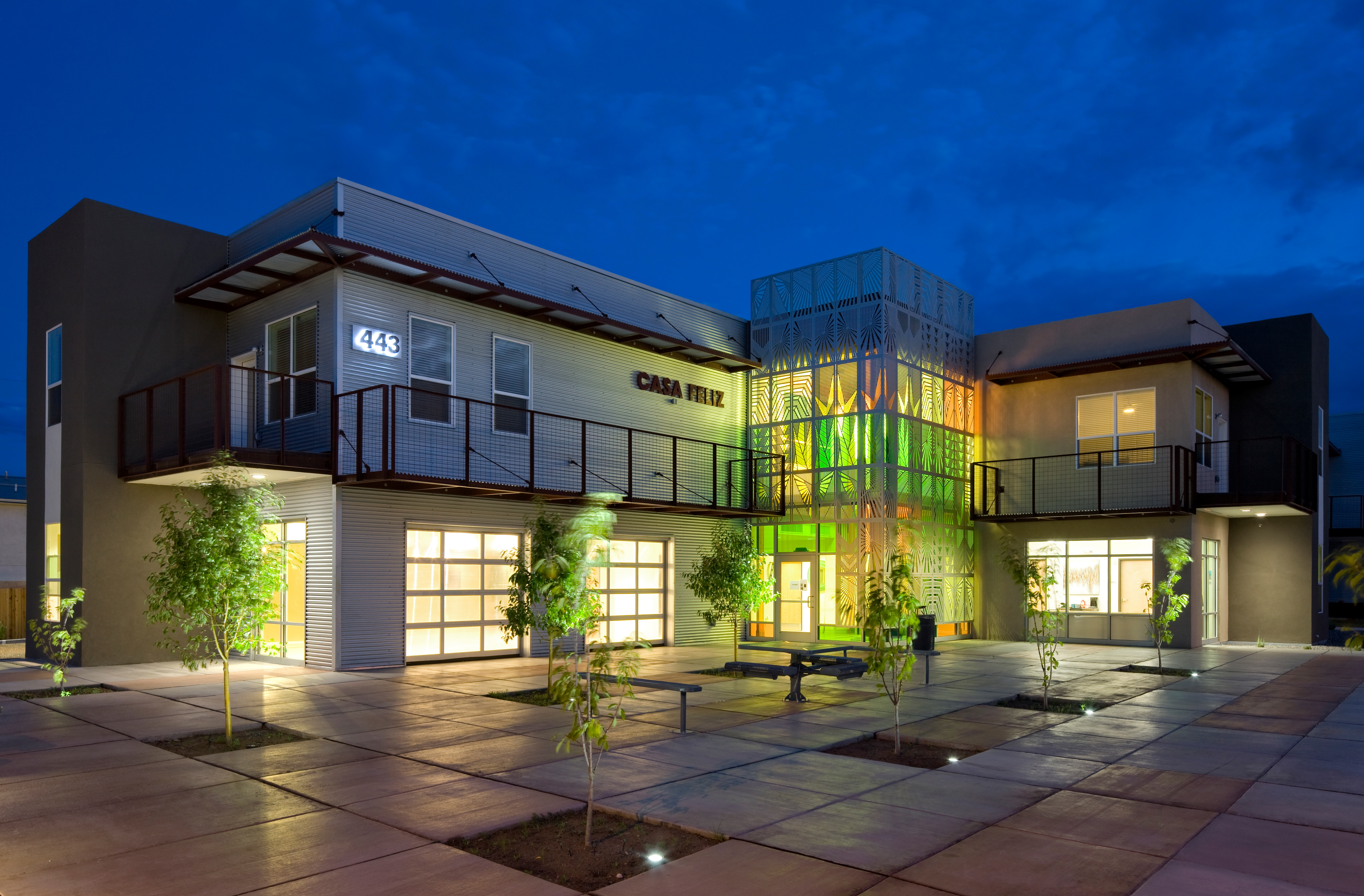LEED Platinum Casa Feliz community building in Albuquerque