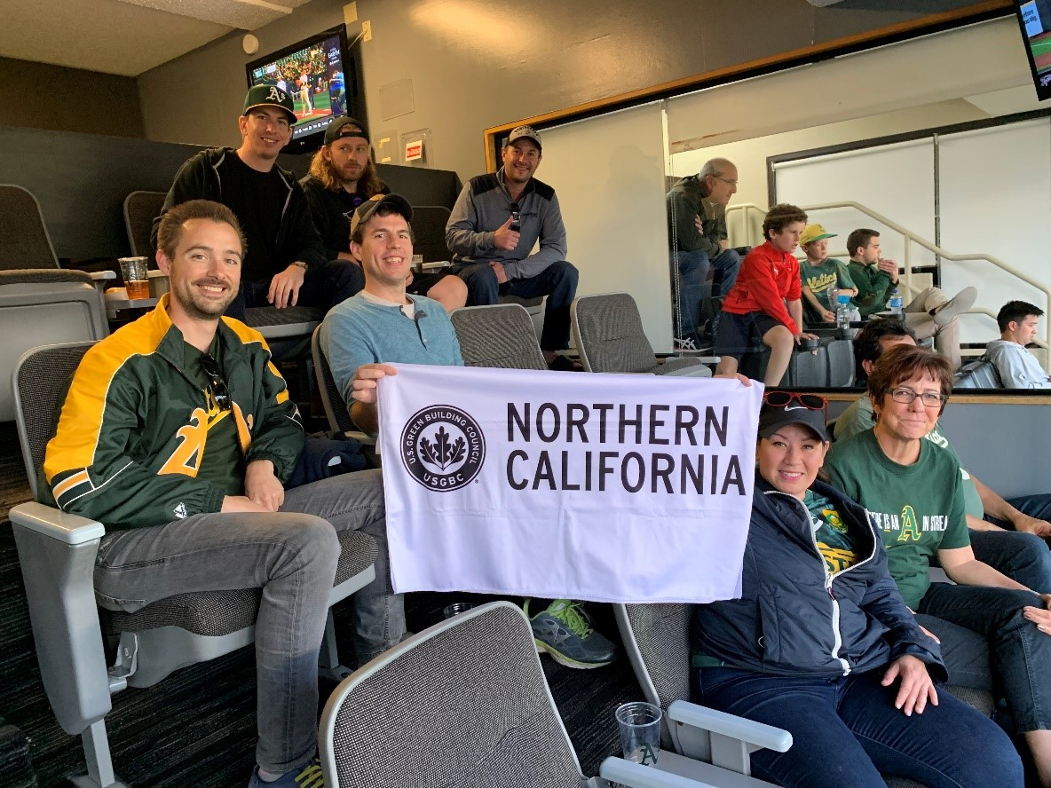 USGBC Northern California watches an Oakland Athletics game