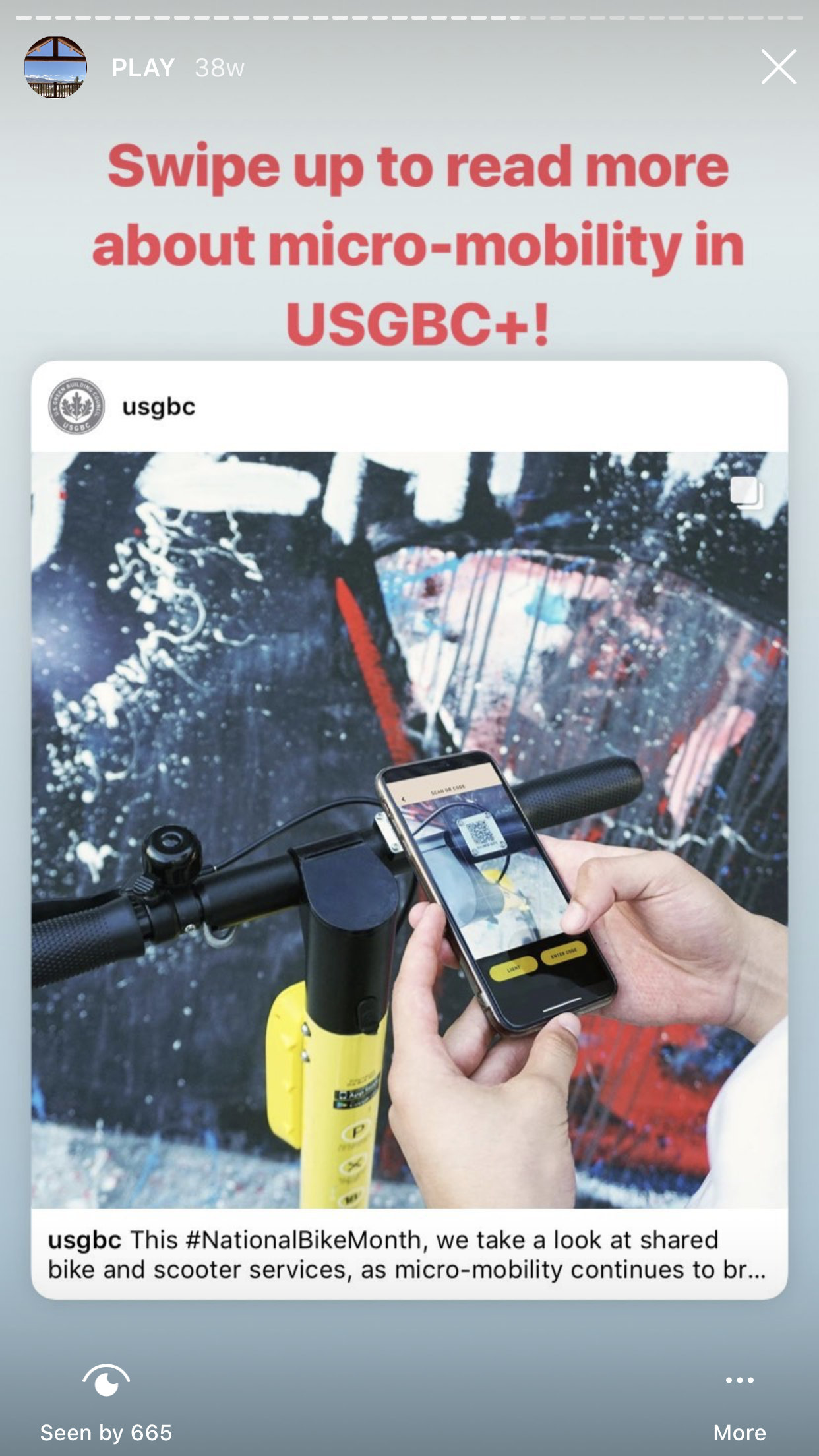 USGBC social media - maximize stories