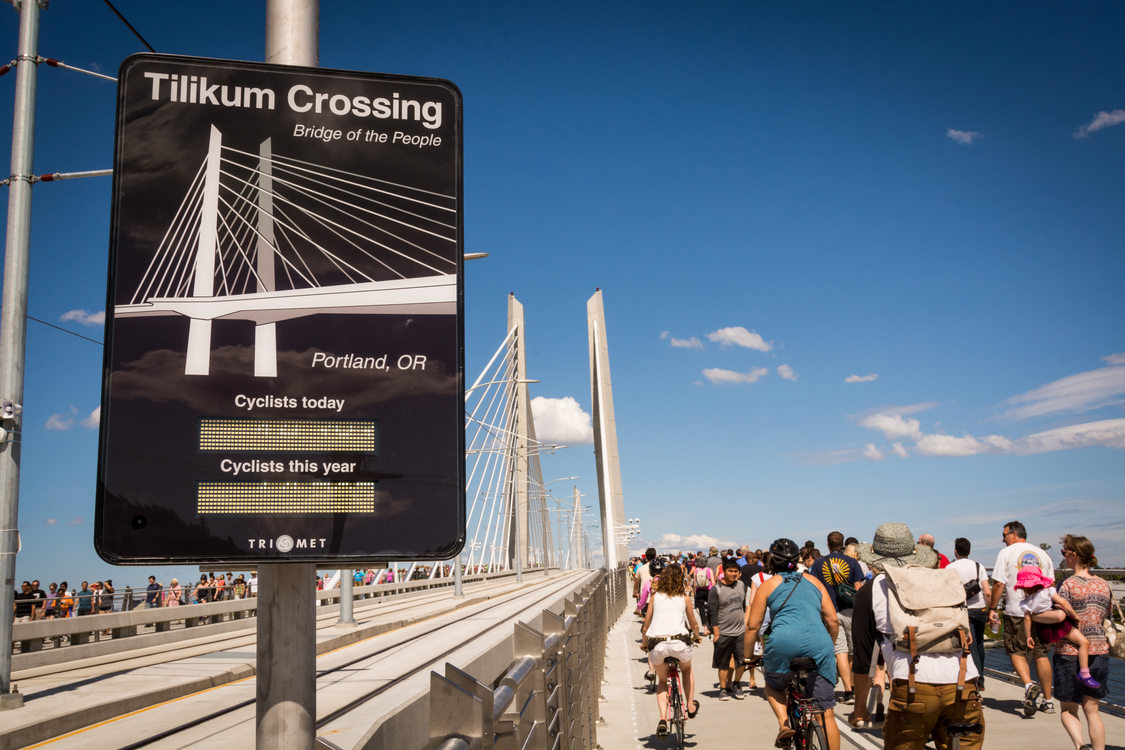 Tilikum Bridge Crossing in Portland, Oregon