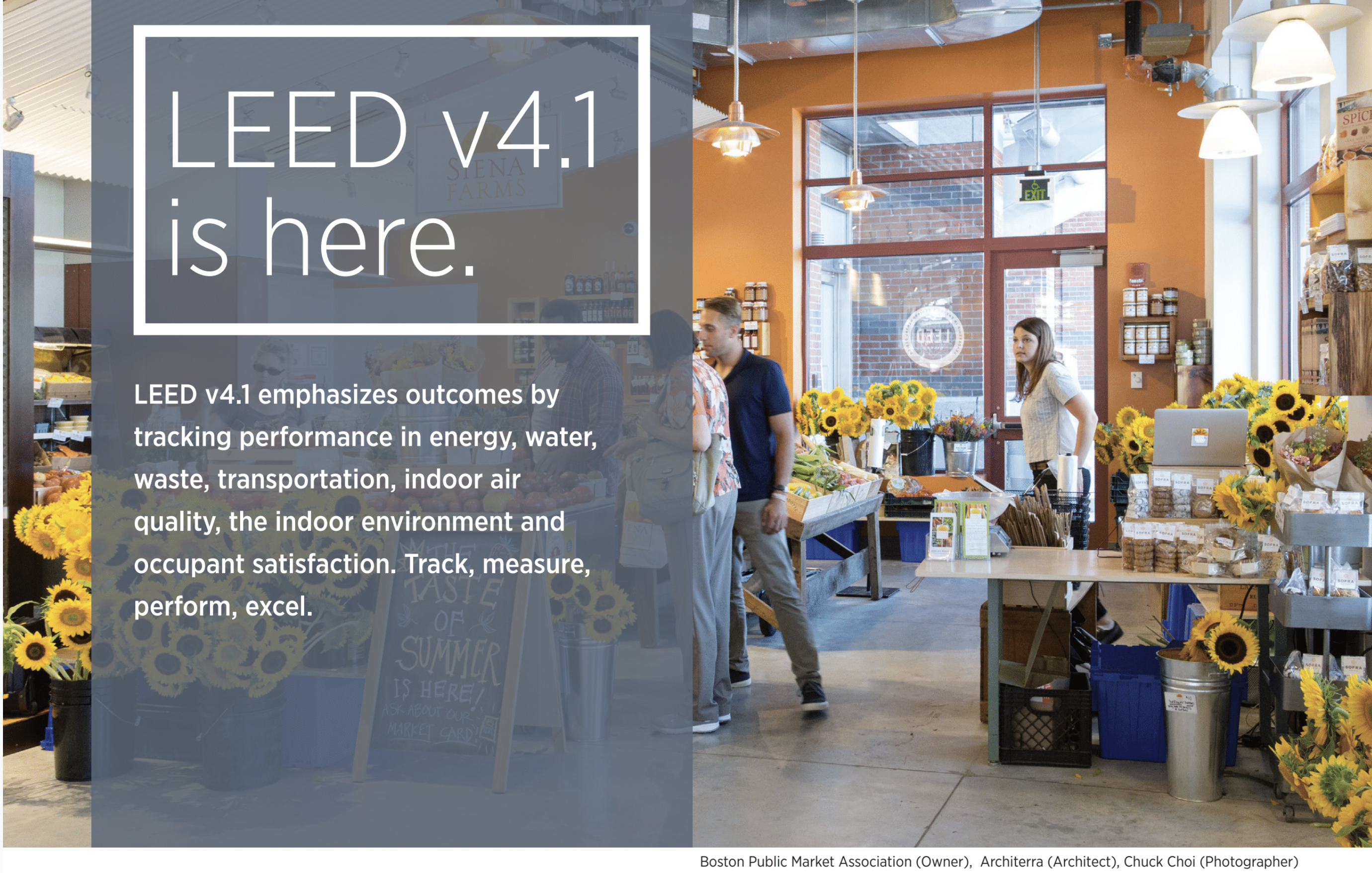 LEED v4.1 retail ad