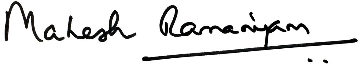 Mahesh Ramanujam signature