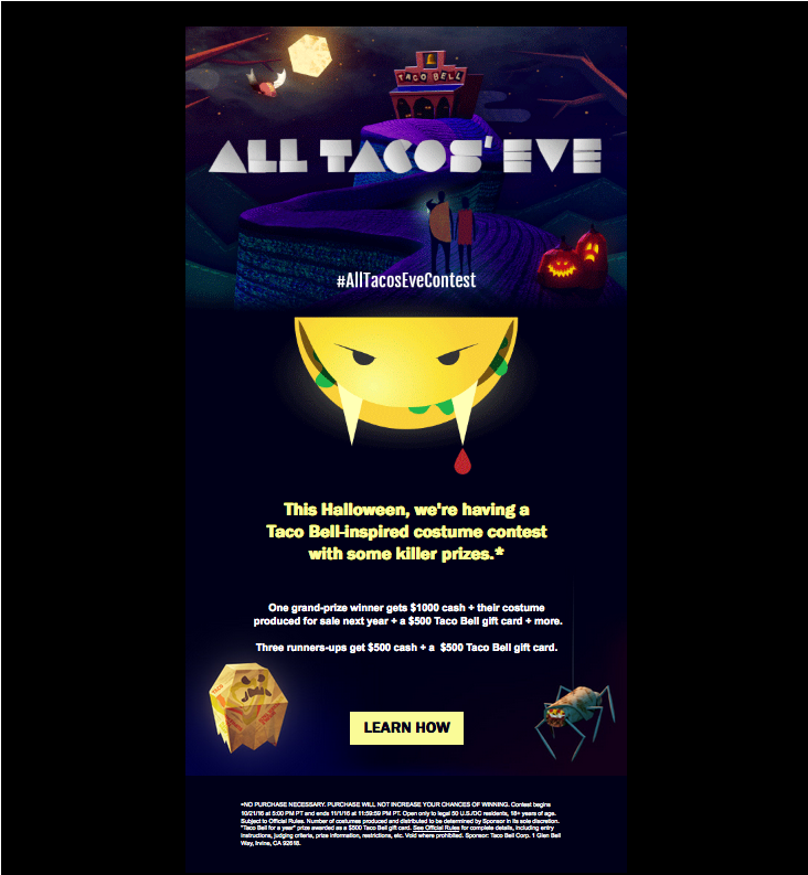 All Tacos Eve: A Taco bell halloween email