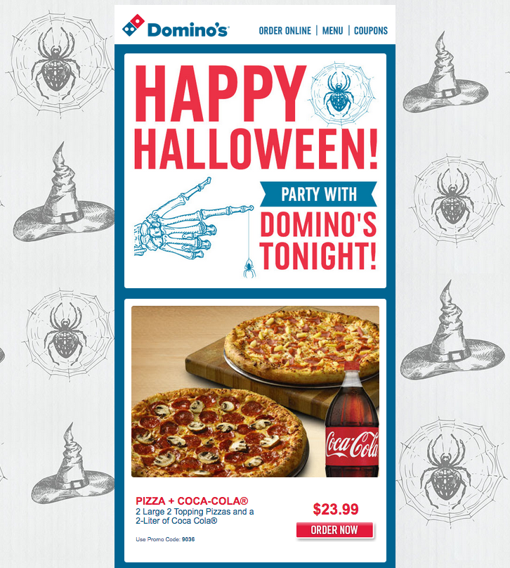 Dominos Halloween Email