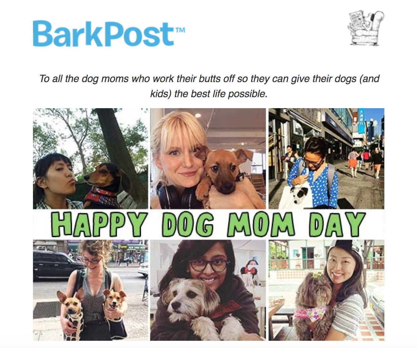 Barkpost dog mom day