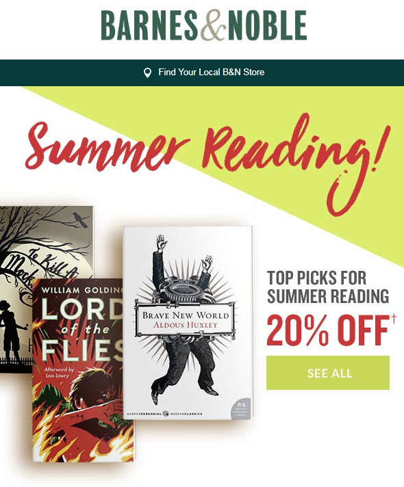 Summer reading coupon