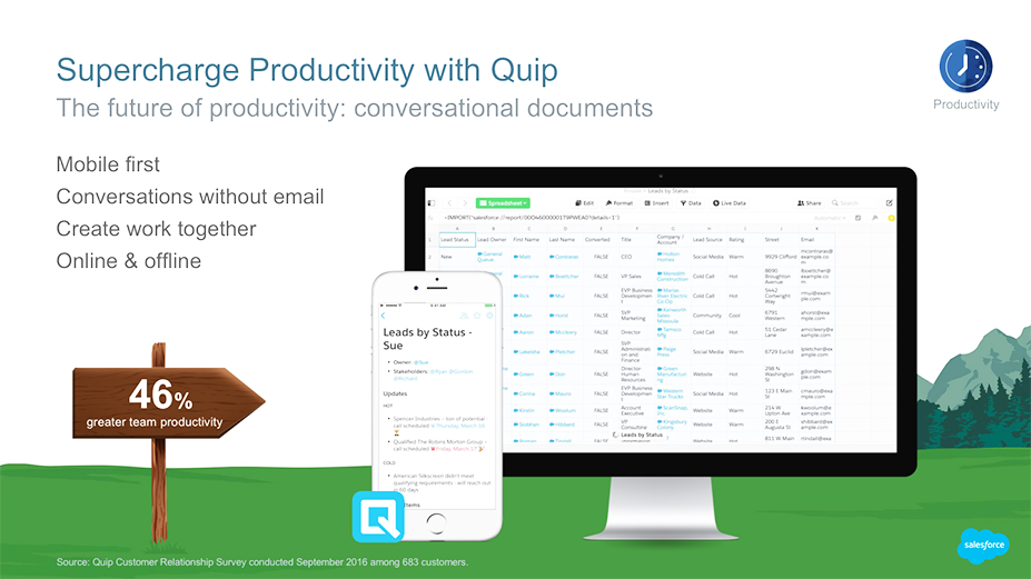 Quip is designed to be mobile-first and works offline when wi-fi is unavailable. You can create, edit, and collaborate all in one place.