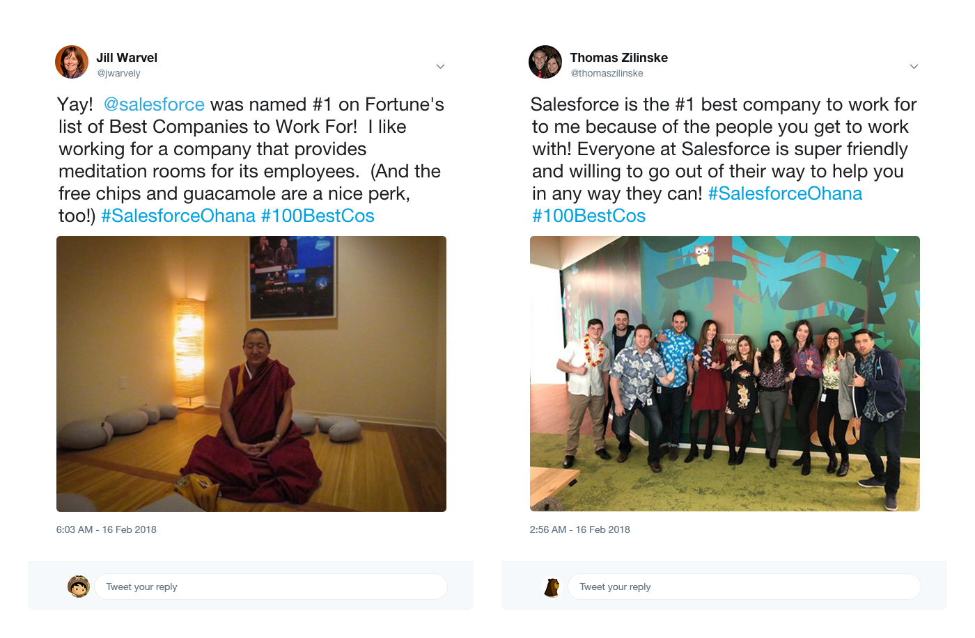 """Salesforce Employees Celebrate #1 on the FORTUNE """"100 Best"""