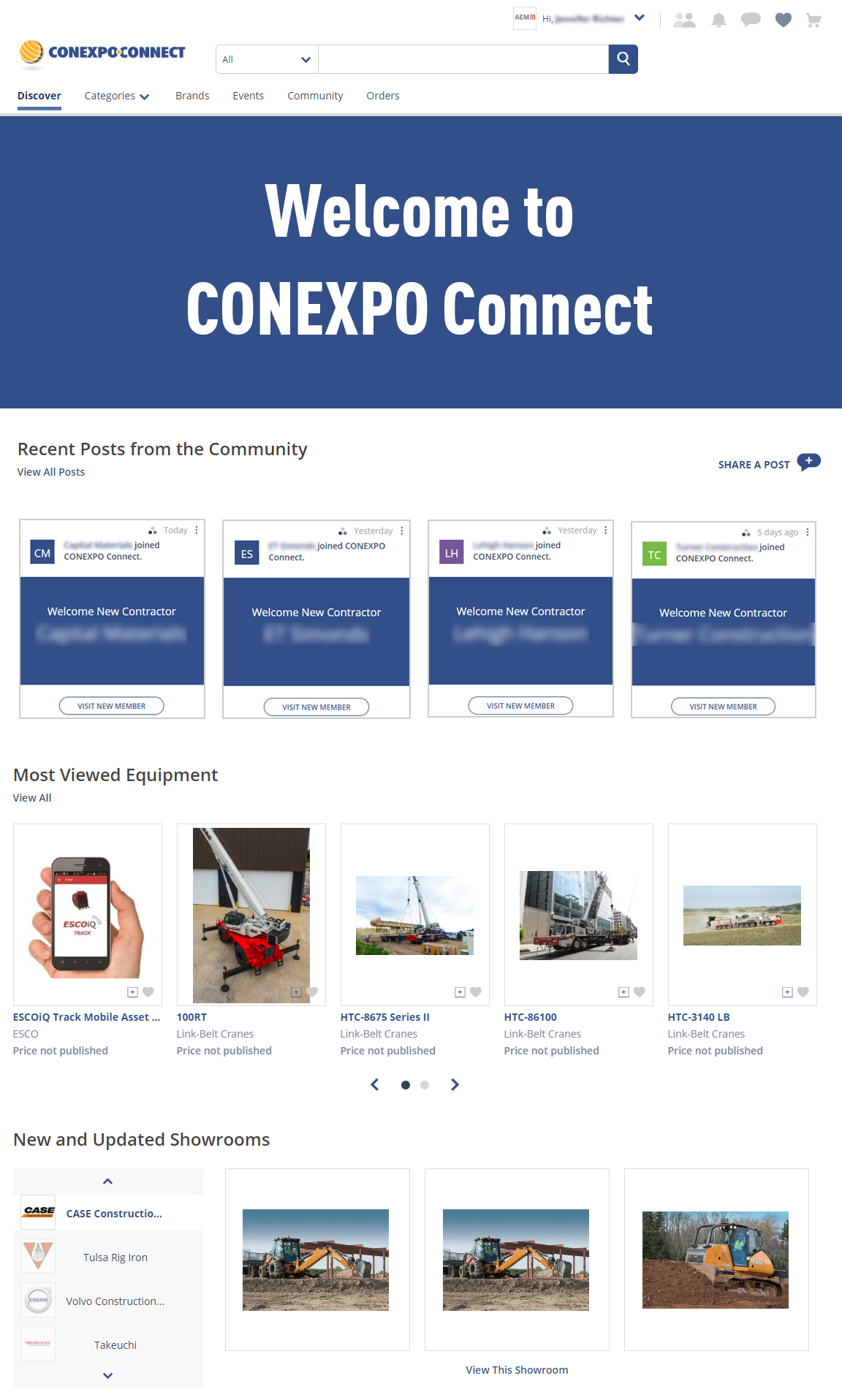 CONEXPO CONNECT Screen