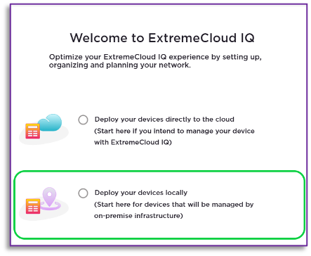 the AP305C/CX universal APs are effortlessly provisioned using ExtremeCloud™ IQ