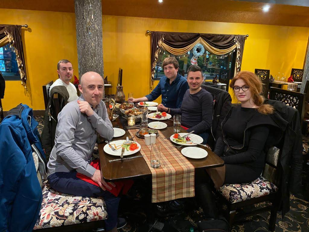 End of the year team dinner for some of the Extreme Ireland team.