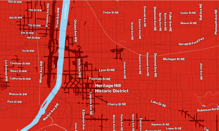 map displays the 5G coverage of a leading carrier in my area