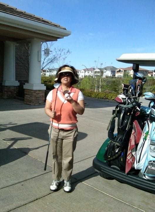 Diane Cramer ready to play golf.