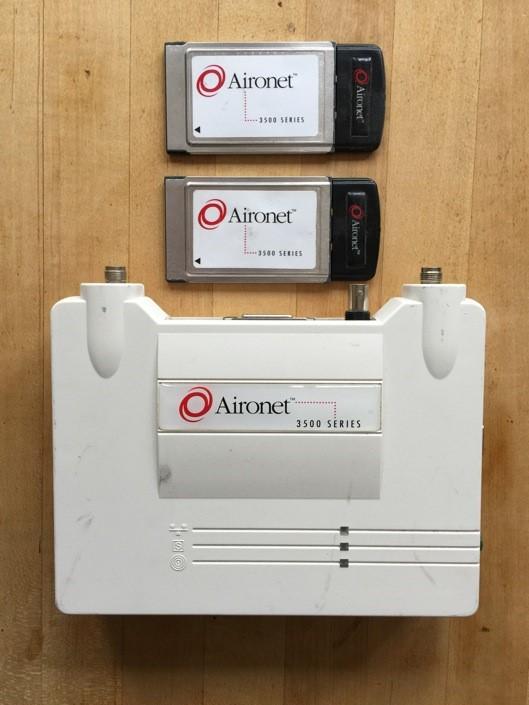 Legacy Aironet FHSS autonomous APs and wireless PCMCIA client radios.
