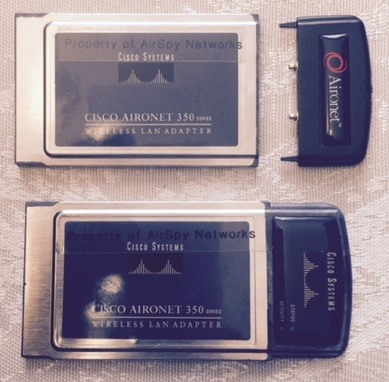 PCMCIA client adapters with both internal and external antennas