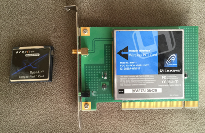 Wireless PCI adapters used to give a desktop computer wireless connectivity