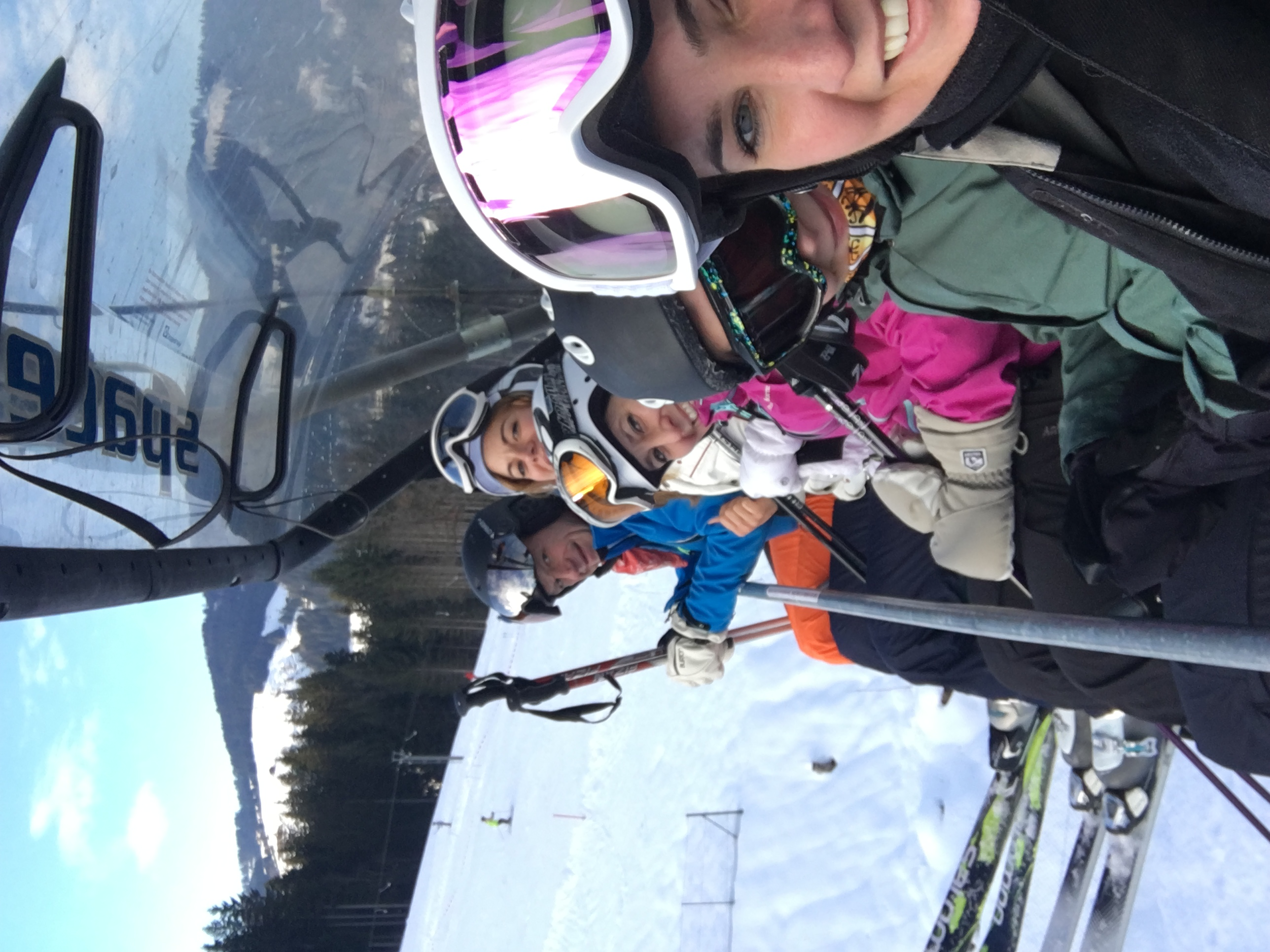 Kate Price on a ski trip with friends