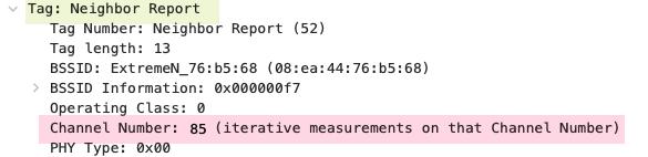 802.11k neighbor report