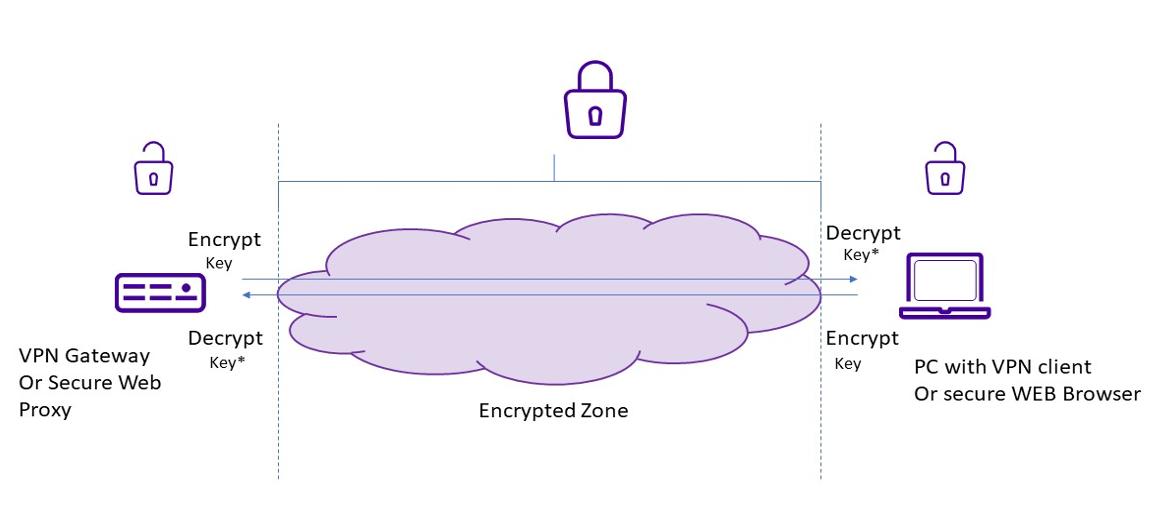 Encryption vpn gateway or secure web proxy