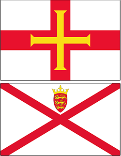 flags of jersey and guernsey