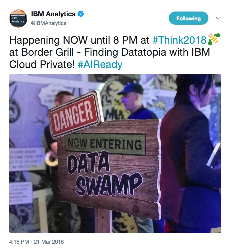 - thnikWed 201 20data 20swamp 20 - Think 2018: Our favorite highlights from Wednesday