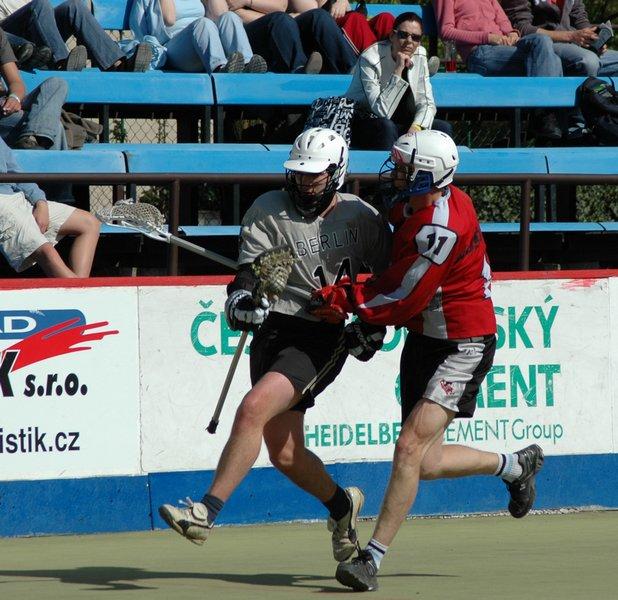 bunny hCzech box lacrosse lax boxla Ales Hrebesky Tournament Prague ball up-field